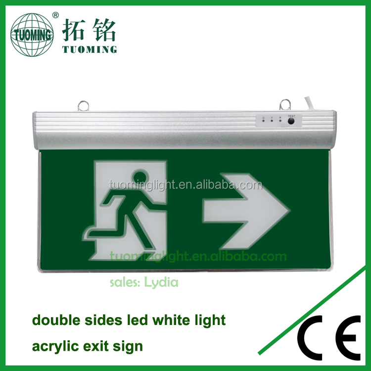 Running Man Exit Sign Fire LED Emergency Charging Light