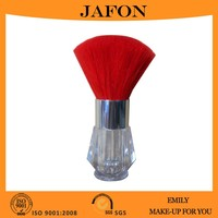 Red Kabuki Brush Sifter Empty Refillable Travel Jar for Mineral Makeup Powders