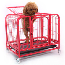 wholesale cheap pet dog crates trolley cage with wheels for sale