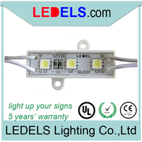 ce and rohs compliant 12v 0.24watt 3 led light module peel and stick
