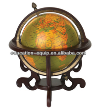 SE71027 Decorative Gifts Rotating Antique Wooden World Globe