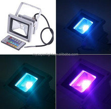 dimmable outdoor led flood lighting 50w 12v RGB led color changing light for park/lot/garden/building