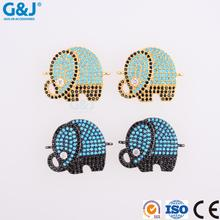 GJ brand wholesale custom elephant shape for jewelry crystal pendant necklaces