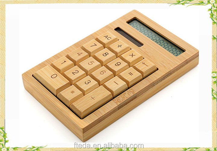Best selling modern wooden bamboo square scientific calculator