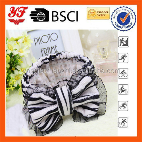 Women Girl new hair styles ribbon decoration Bow tie headband wholesale