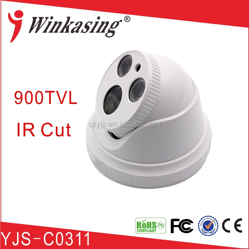 "1/3""(Micron)139+8510 ccd ir 900tvl 1/1.3/2MP cctv dome camera ahd cvi with power supply"