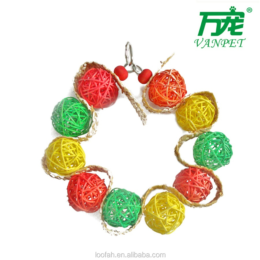 new design colorful vine ball toys for birds&parrots