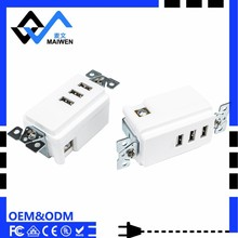 High Quality US 3100mA 3 Port slim usb wall charger
