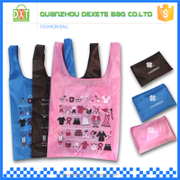 2015 wholesale outdoor shopping foldable polyester reusable tote bag
