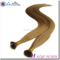Hot Selling Keratin Hair Extension 1G/S 100G/Pack Color 613 5A Top Grade Mongolian Kinky Curly I Tip Hair
