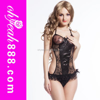 Black color teddy lingerie style one piece wholesale sexy japanese mature women sexy lingerie