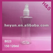 125ml 150ml transparent foam pump PET bottle B023