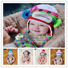baby crochet beanie monkey hats crochet pattern infant caps