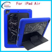 Practical design portable tablet cover for iPad Air,Hard impact tablets case for iPad Air