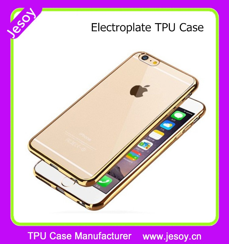 JESOY New Electroplate Transparent TPU Rubber Mobile Phone Back Cover Case For iPhone 5 5c