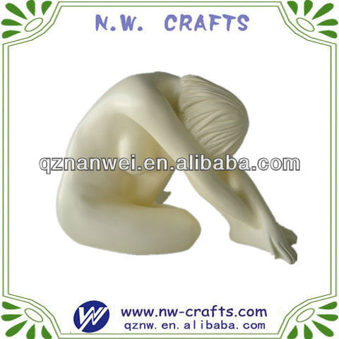 Resin craft home decoration sex nude girl