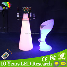Amazing Indoor and Outdoor Party Events Rechargeable Convenient Glowing LED Light Furniture
