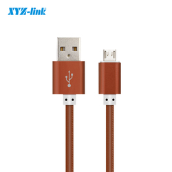 Most popular 1m leather braided usb data cable charger for iphone 7