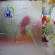 patterned glass partition for shower door/pattern glass bathroom glass partition/obscure tempered glass sheet
