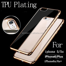 Plating tpu case for iphone 6 ,High Quality Tpu case for iphone 6 ,for iphone 6 cell phone case