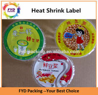 Top Quality Food Grade Plastic Wrap Shrink Label For Container