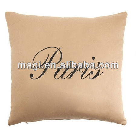 Lovely Linen Pink Pillow Paris Theme for Home Decor