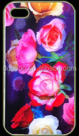 charming red rose flower plastic phonecases 3d cell phone case/cover