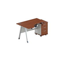 High quality Wooden furniture steel frame/ steel leg office staff desk