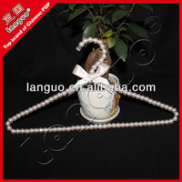 beautiful plastic bead coat hangers with ribbon decorated