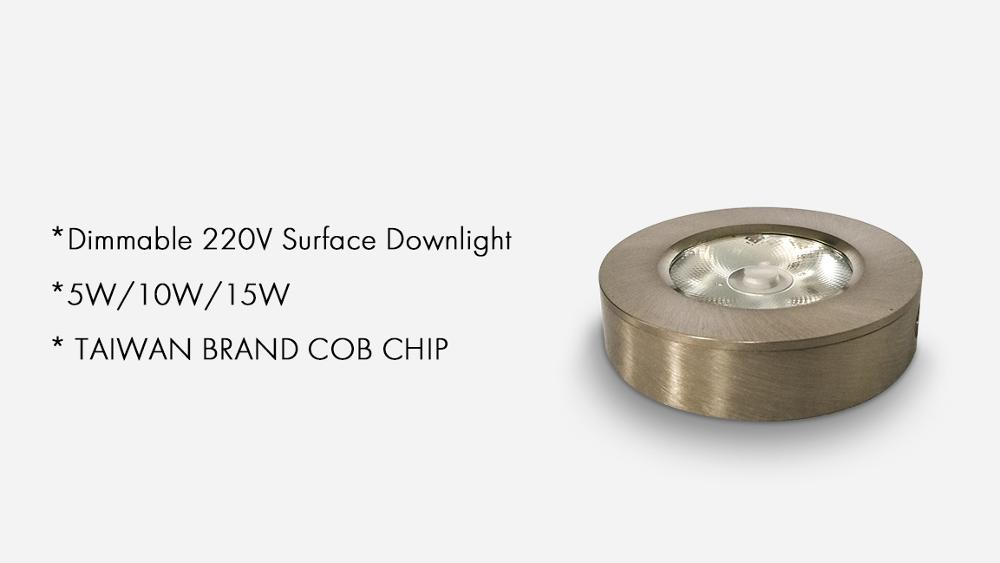Aluminum slim surface mounted 5w low price cob led down light