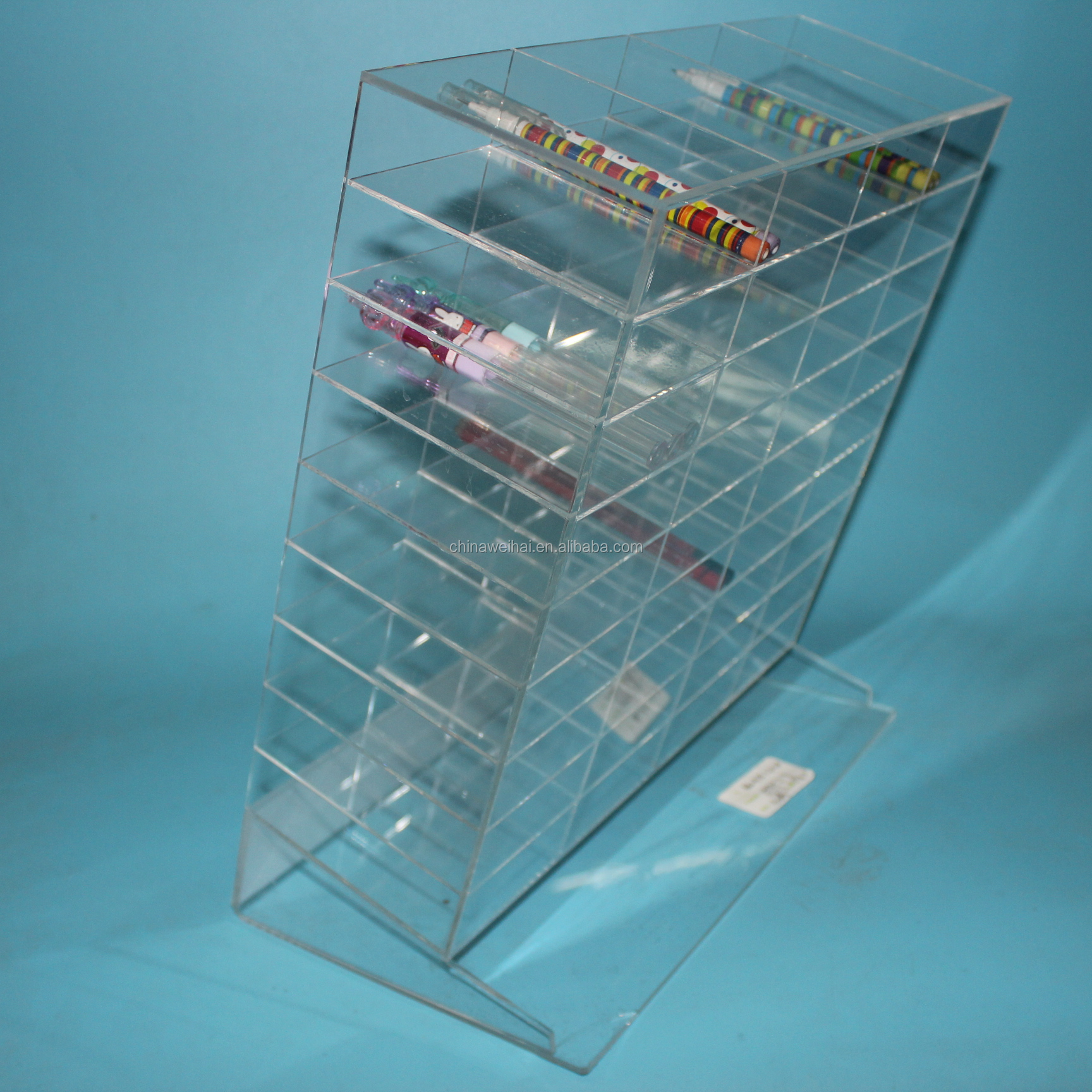 Clear Plexiglass Eye Liner Display Stand