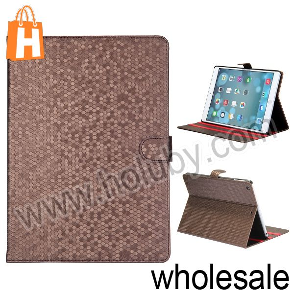New Arrival Basketball Pattern Magnetic Side Flip Stand Leather Inner PC Case for iPad Air iPad 5 with Grooves Various Colors