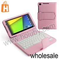 Bluetooth Keyboard Leather Case for Asus Google Nexus 7 II 2