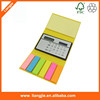 Eco- Friendly calculator with sticky label,Promotion calculator memo pad with index tabs