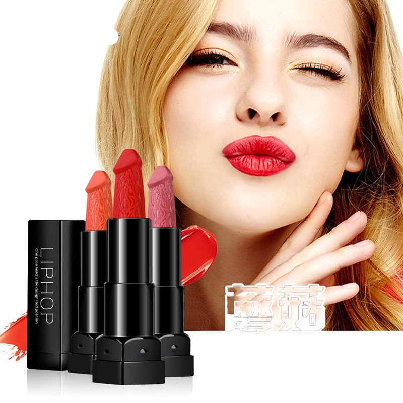 6 Colors Penis Shape Lipstick Mushroom Lipstick Long Lasting Moisture Cosmetic Rouge Pop Matte Lipstick Lips Makeup