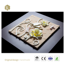 100% handmade 3D art yellow flower home decor painting china relife outlet wall decor metal art homemetal flowers wall art mirro