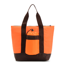 extra large outdoor personal reusable soft sided solid color square lunch insulated aluminum thermal cooler tote bag