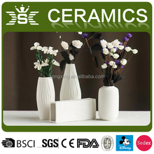 Modern White Ceramic Vases for Wedding Decorations