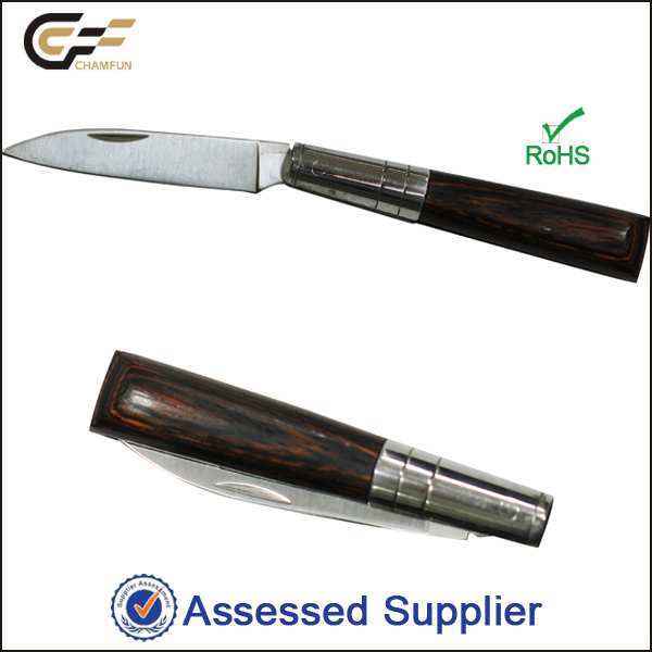 Wood and Stainless Steel Handle Small Pen Knife