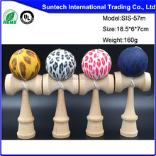 wooden football painted kendama wholesale