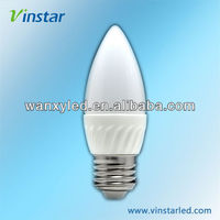 E27 led 3w led ceramic candle light ushine light science and technology Shanghai