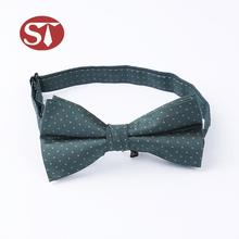 Fancy design handmade customized size pure green color mini bow ties