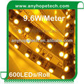 Fully flexible with waterproof silicone glue coating cool white smd rgb led 9.6w/m 12v smd3528