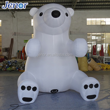 Cheap Advertising Inflatable White Bear Animal Character