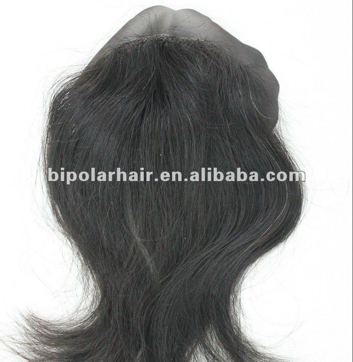 "4x4"" mono base top closure hair piece for black women"