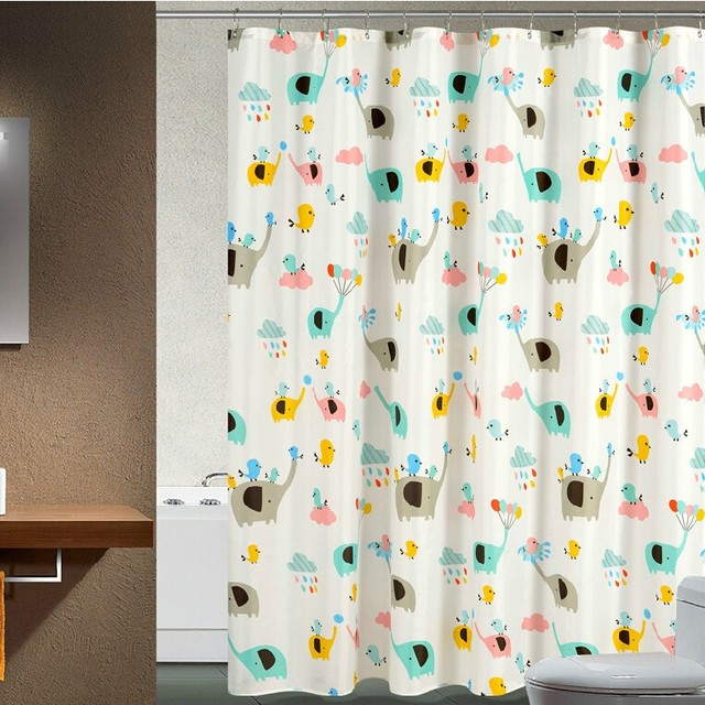 2017 Trending Products Hookless PEVA Shower Curtain For Bathroom