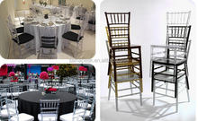 high quality resin clear chiavari wedding chair for sale