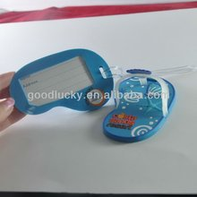 2012 Shoes shaped luggage tags for tourism bags
