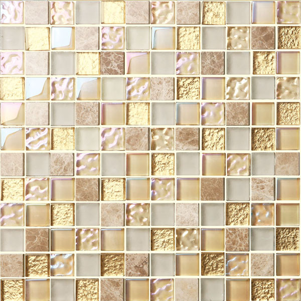 glossy sugar color pure crystal glass mosaic tiles
