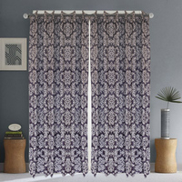 Wholesale new style Home Purple jacquard made curtain